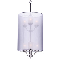 Lucid 6 Light Satin Nickel Pendant Ceiling Light