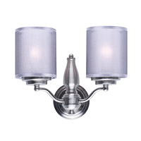 Lucid 2 Light 14 inch Satin Nickel Wall Sconce Ceiling Light