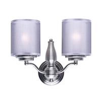 Maxim 24559SSSN Lucid 2 Light 14 inch Satin Nickel Wall Sconce Ceiling Light