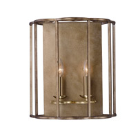 Maxim 24732BZF Helix 2 Light 15 inch Bronze Fusion Wall Sconce Wall Light