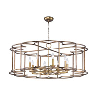 Helix 8 Light 38 inch Bronze Fusion Single-Tier Chandelier Ceiling Light