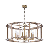 Helix 6 Light 32 inch Bronze Fusion Single-Tier Chandelier Ceiling Light
