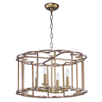 Helix 4 Light 24 inch Bronze Fusion Single-Tier Chandelier Ceiling Light