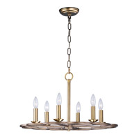 Maxim 24737BZF Helix 6 Light 24 inch Bronze Fusion Single-Tier Chandelier Ceiling Light
