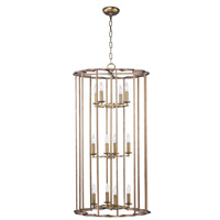 Helix 12 Light 24 inch Bronze Fusion Foyer Pendant Ceiling Light