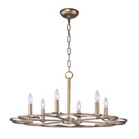 Maxim 24739BZF Helix 6 Light 32 inch Bronze Fusion Single-Tier Chandelier Ceiling Light