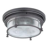 Hi-Bay 2 Light 13 inch Bronze Flush Mount Ceiling Light