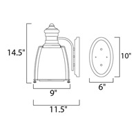 Maxim Lighting Hi-Bay 1 Light Wall Sconce in Satin Nickel 25007CLSN alternative photo thumbnail