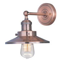 Maxim 25060ACP/BUI Mini Hi-Bay 1 Light 8 inch Antique Copper Wall Sconce Wall Light in With Bulb