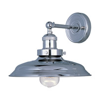 Maxim 25062PN/BUI Mini Hi-Bay 1 Light 11 inch Polished Nickel Wall Sconce Wall Light in With Bulb