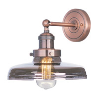 Maxim 25067MSKACP/BUI Mini Hi-Bay 1 Light 10 inch Antique Copper Wall Sconce Wall Light in Mirror Smoke, With Bulb