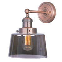 Maxim Lighting Mini Hi-Bay 1 Light Wall Sconce in Antique Copper 25069MSKACP/BUI