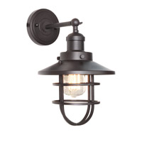 Mini Hi-Bay 1 Light 8 inch Bronze Wall Sconce Wall Light in Without Bulb