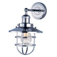 Maxim Lighting Mini Hi-Bay 1 Light Wall Sconce in Polished Nickel 25070PN