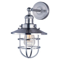 Mini Hi-Bay 1 Light 8 inch Satin Nickel Wall Sconce Wall Light in Without Bulb