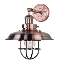 Maxim Lighting Mini Hi-Bay 1 Light Wall Sconce in Antique Copper 25071ACP