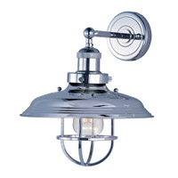 Maxim Lighting Mini Hi-Bay 1 Light Wall Sconce in Polished Nickel 25071PN