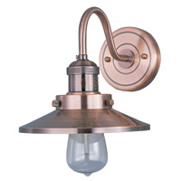 Maxim Lighting Mini Hi-Bay 1 Light Wall Sconce in Antique Copper 25080ACP/BUI