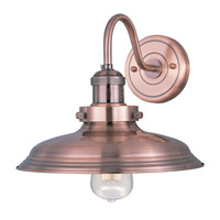 Mini Hi-Bay 1 Light 11 inch Antique Copper Wall Sconce Wall Light in Without Bulb