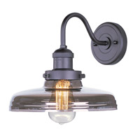 Maxim 25087MSKBZ/BUI Mini Hi-Bay 1 Light 10 inch Bronze Wall Sconce Wall Light in Mirror Smoke, With Bulb