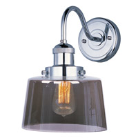 Maxim 25089MSKPN/BUI Mini Hi-Bay 1 Light 9 inch Polished Nickel Wall Sconce Wall Light in With Bulb photo thumbnail