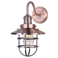 Maxim 25090ACP Mini Hi-Bay 1 Light 8 inch Antique Copper Wall Sconce Wall Light in Without Bulb photo thumbnail
