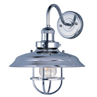 Maxim 25091PN Mini Hi-Bay 1 Light 11 inch Polished Nickel Wall Sconce Wall Light in Without Bulb