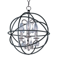Maxim 25140ARPN Orbit 3 Light 12 inch Anthracite and Polished Nickel Single-Tier Chandelier Ceiling Light