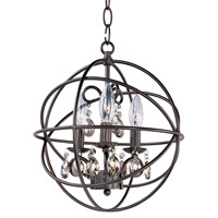Maxim 25140OI Orbit 3 Light 12 inch Oil Rubbed Bronze Chandelier Ceiling Light