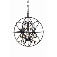 Orbit 4 Light 19 inch Oil Rubbed Bronze Single-Tier Chandelier Ceiling Light