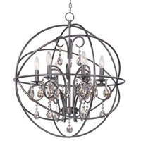 Orbit 6 Light 25 inch Oil Rubbed Bronze Chandelier Ceiling Light