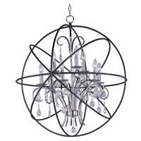 Maxim 25145ARPN Orbit 9 Light 30 inch Anthracite and Polished Nickel Single-Tier Chandelier Ceiling Light