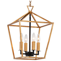 Maxim 25152GLTXB Abode 4 Light 12 inch Gold Leaf and Textured Black Chandelier Ceiling Light