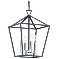 Maxim 25152TXBPN Abode 4 Light 12 inch Textured Black and Polished Nickel Chandelier Ceiling Light