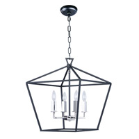 Abode 4 Light 18 inch Textured Black/Polished Nickel Single-Tier Chandelier Ceiling Light