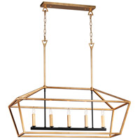 Maxim 25157GLTXB Abode 5 Light 47 inch Gold Leaf and Textured Black Linear Pendant Ceiling Light