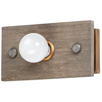 Maxim 25241WWDAB Plank 1 Light 11 inch Weathered Wood and Antique Brass ADA Wall Sconce Wall Light