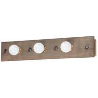Maxim 25243WWDAB Plank 3 Light 30 inch Weathered Wood and Antique Brass Vanity Light Wall Light