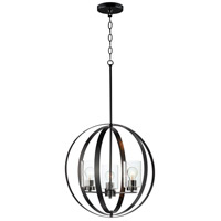 Maxim 25254CLBK Sentinel 3 Light 21 inch Black Single Pendant Ceiling Light