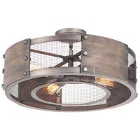 Maxim 25264BWWZ Outland 4 Light 22 inch Barn Wood and Weathered Zinc Pendant Ceiling Light