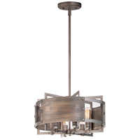 Maxim 25265BWWZ Outland 6 Light 22 inch Barn Wood and Weathered Zinc Pendant Ceiling Light