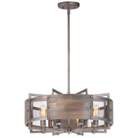 Maxim 25266BWWZ Outland 8 Light 28 inch Barn Wood and Weathered Zinc Pendant Ceiling Light