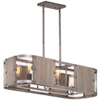 Maxim 25268BWWZ Outland 6 Light 38 inch Barn Wood and Weathered Zinc Linear Pendant Ceiling Light