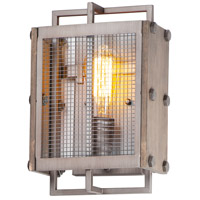 Maxim 25269BWWZ Outland 1 Light 8 inch Barn Wood and Weathered Zinc ADA Wall Sconce Wall Light
