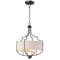 Maxim 25284WLBZAB Savant 4 Light 20 inch Bronze and Antique Brass Chandelier Ceiling Light