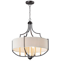 Maxim 25285WLBZAB Savant 8 Light 31 inch Bronze and Antique Brass Chandelier Ceiling Light