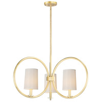 Maxim 25293OFNAB Meridian 3 Light 30 inch Natural Aged Brass Chandelier Ceiling Light
