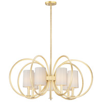 Maxim 25297OFNAB Meridian 7 Light 36 inch Natural Aged Brass Chandelier Ceiling Light
