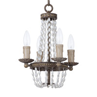 Maxim 26002ATR Gisele 4 Light 11 inch Antique Terra Mini Chandelier Ceiling Light