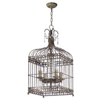 Maxim 26003ATR Gisele 4 Light 13 inch Antique Terra Chandelier Ceiling Light